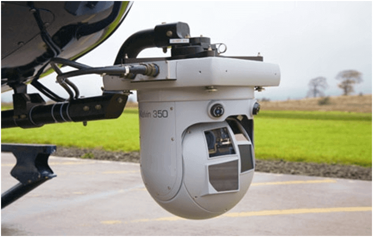 camera for gas leakage detection mounted on helicopter