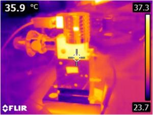 stirling cryocooler heat map