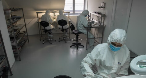 Cleanroom for production of cryogenic coolers