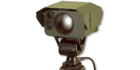 Surveillance camera with built in cryogenic cooler